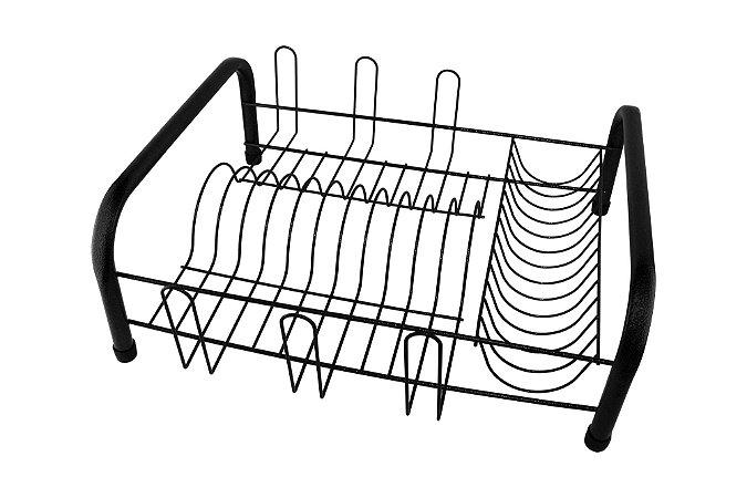 Escorredor Louça Tubular Preto 41x35,5cm (LxP) -
