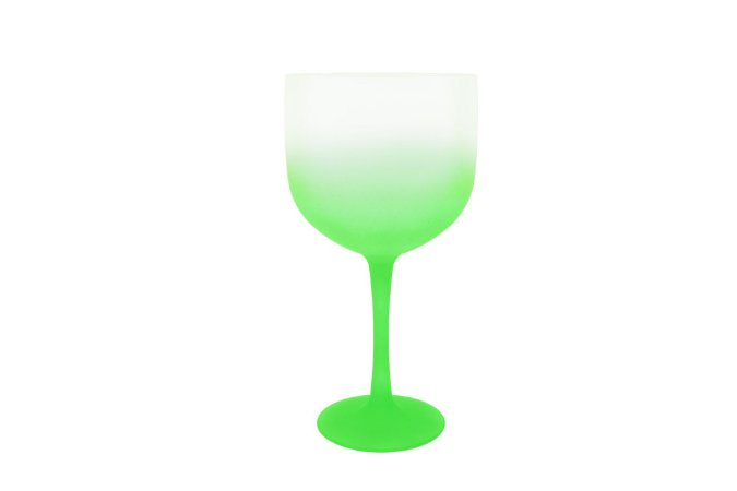 Taça Gin PS 600 ml Degradê Transparente Verde -