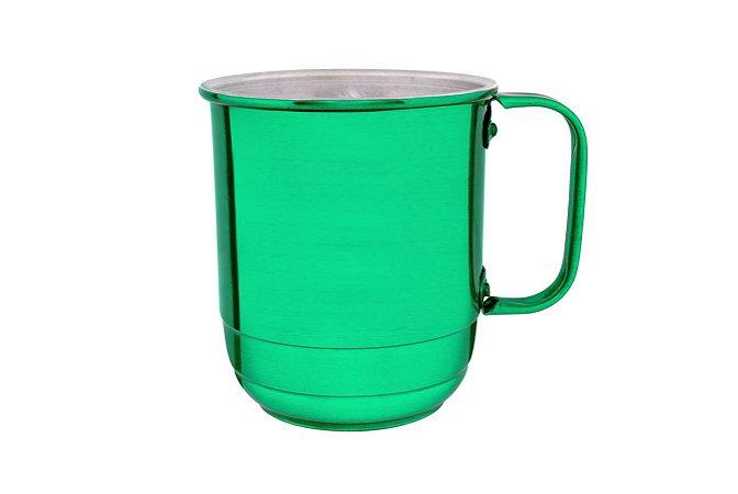 Caneca Alumínio República 600 ml Sem Marca Verde Verniz -