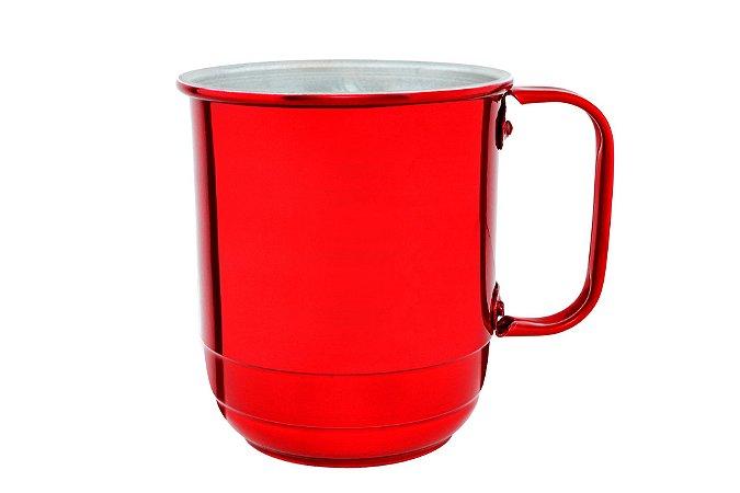 Caneca Alumínio República 600 ml Vermelha Verniz  -