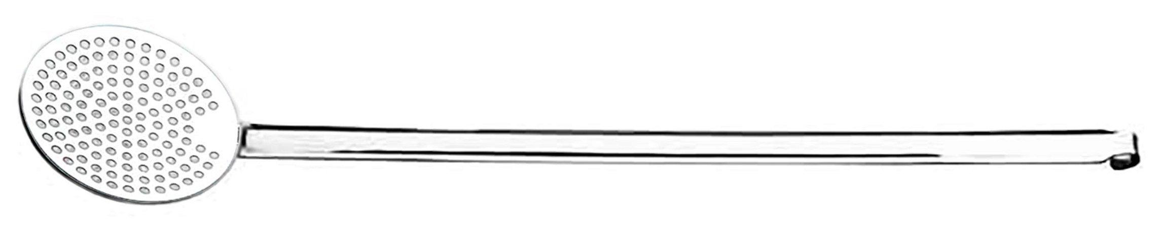 Espumadeira Inox Pendurar cabo 40cm Ø 10cm -