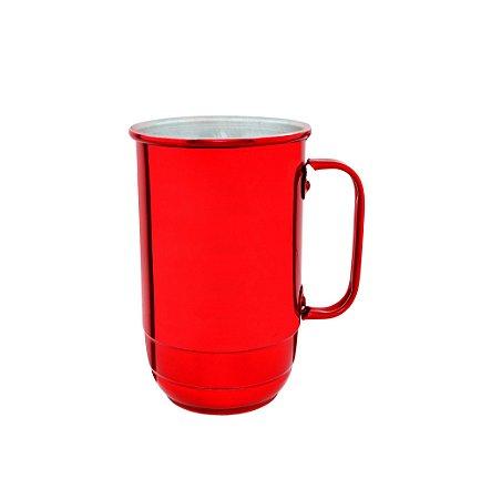 Caneca Alumínio Imperial 900 ml Vermelha Verniz