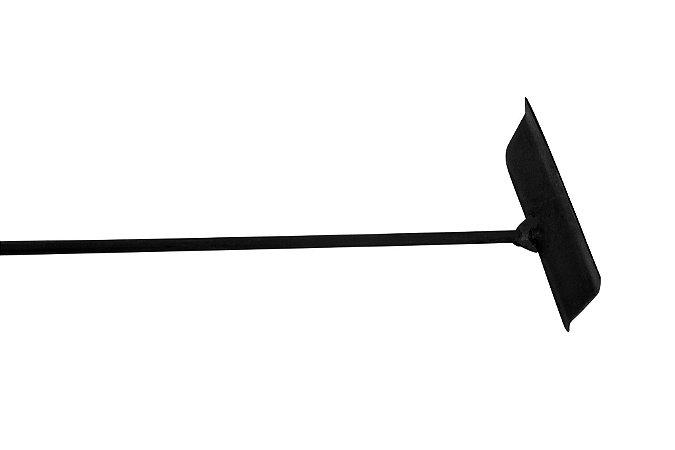 Enxada Ferro 64cm para Kit Lareira - Preta -