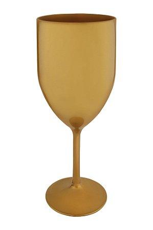 Taça Vinho PS 345ml Dourada