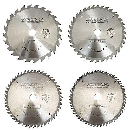 Disco de Serra Circular Indfema HM 250 mm Linha Comercial 8025 - 24/36/48/60 Dentes