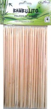 Palito Bambu 15 cm 4mm Pta Chanfro 50