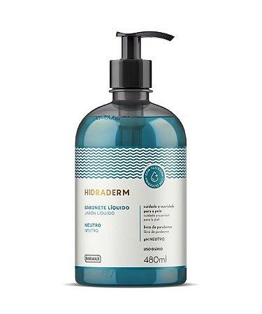 Sabonte Líquido Farmax 480Ml Neutro Com Glicerina Hidraderm