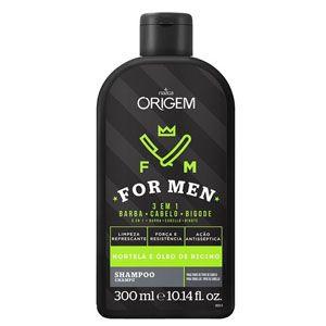 Origem For Men Shampoo 3 em 1 300ml
