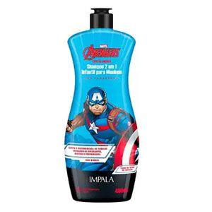 Shampoo Impala Disney 2x1 Capitão América 400ml