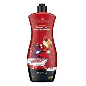Shampoo Impala Disney 2x1 Homem de Ferro 400ml