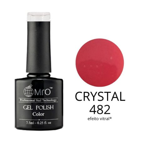 Esmalte em Gel UV/LED Cor 482 Crystal Marca MRO 7,5ml
