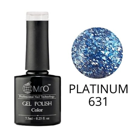 Esmalte em Gel UV/LED Cor 631 Platinum Marca MRO 7,5ml