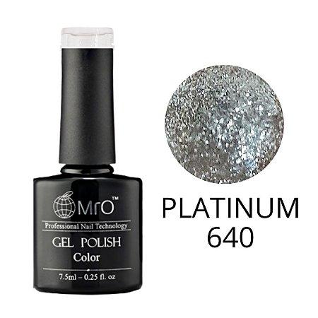 Esmalte em Gel UV/LED Cor 640 Platinum Marca MRO 7,5ml