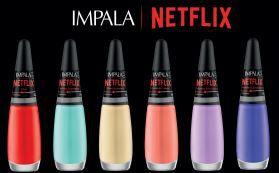 Coleção Esmalte Impala Netflix Brand 6 Cores
