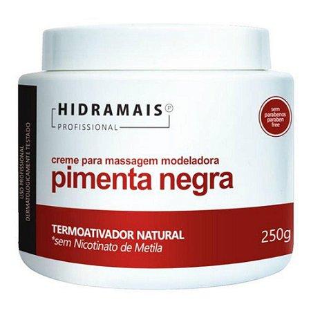 Creme de Massagem Pimenta Negra 250g  Hidramais
