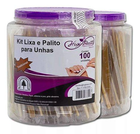 POTE LIXA PARDA / PALITO PINUS 12,5CM P/C C/ 100UN