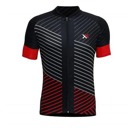 Camisa Mattos Racing Bike Lines Preto e Vermelho