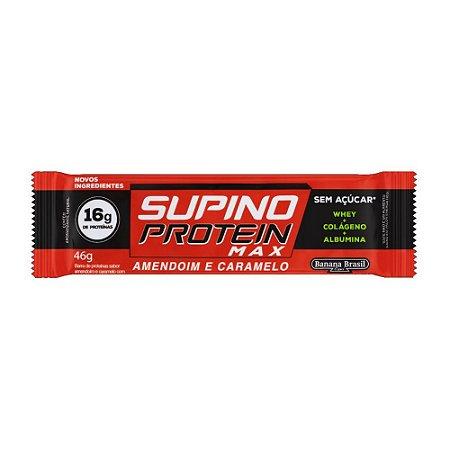 Barra Supino 46g Protein Max Amendoim e Caramelo