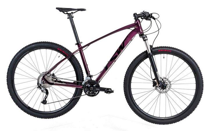 Bicicleta Aro 29 TSW Jump 27V Violeta