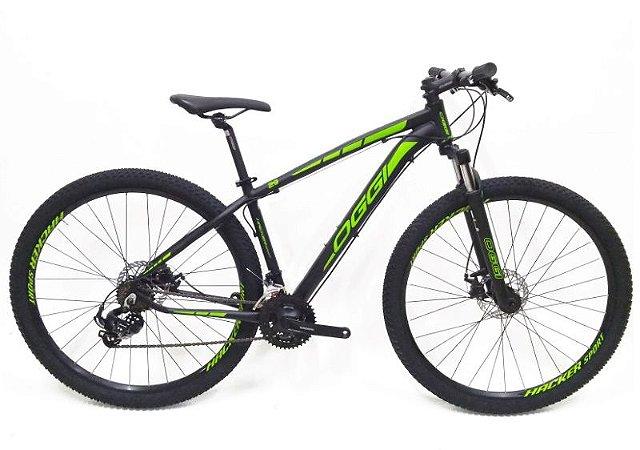 Bicicleta Aro 29 Oggi Hacker Sport Preto/Verde