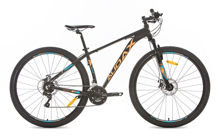 Bicicleta Aro 29 Audax Havok SX Pto/Laranja/Azul