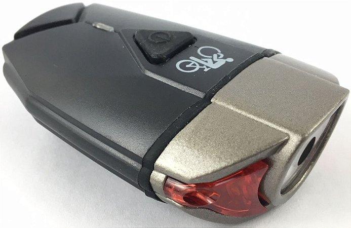 Farol 300 Lumens USB Preto/Cinza