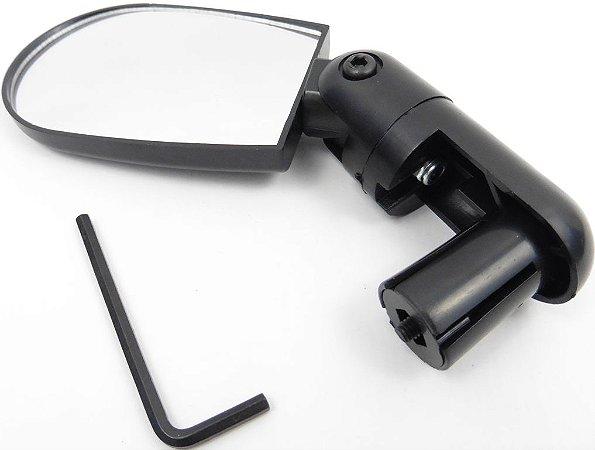 Espelho Angular Com Regulagem (7.5cm Curvo) Preto
