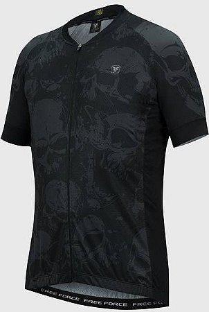 Camisa Free Force Sport Skull Preto/Chumbo