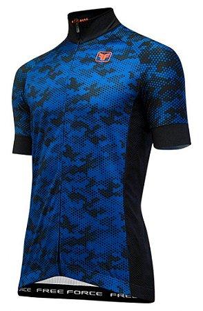 Camisa Free Force Army Preto com Azul