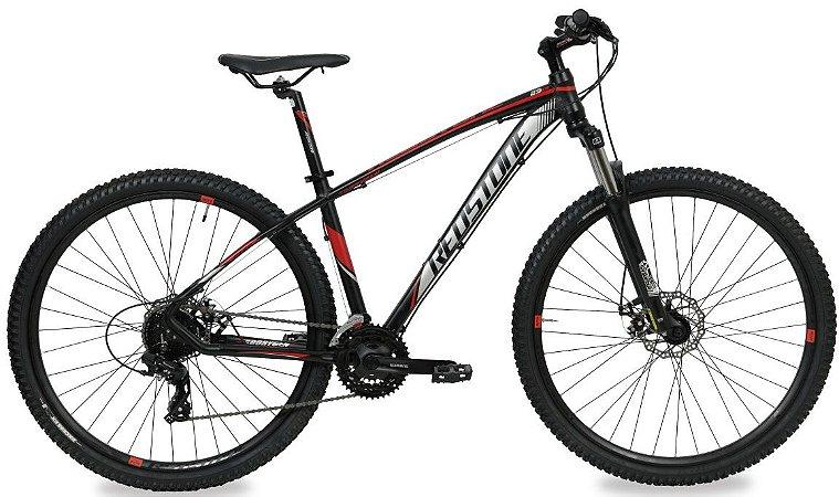 Bicicleta Aro 29 Redstone Aborygen 24V Preto/Vermelho/Cinza