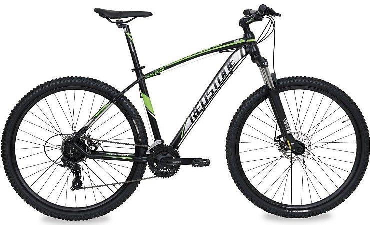 Bicicleta Aro 29 Redstone Aborygen 24V Preto/Verde/Cinza