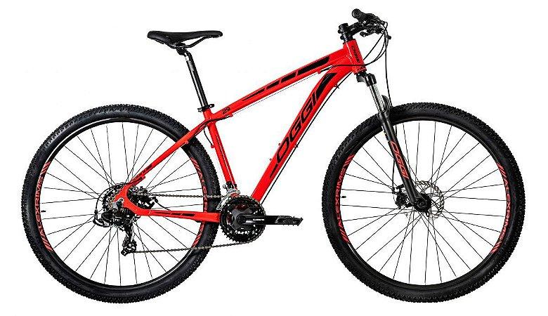 Bicicleta Aro 29 Oggi Hacker Sport (2020*) Vermelho/Preto