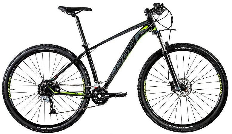 Bicicleta Aro 29 Oggi Big Wheel 7.1 (2020) Preto/Verde/Grafite