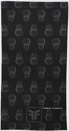 Bandana Free Force Skull Preto/Cinza