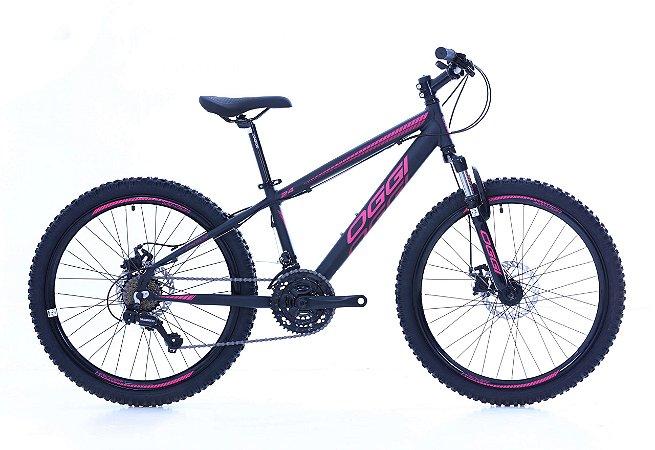 Bicicleta Aro 24 Oggi Hacker (2020*) Preto/2-Pin