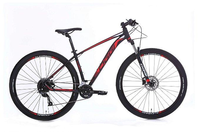 Bicicleta Aro 29 Oggi Big Wheel 7.0 (2020) Preto/Vermelho/Branco