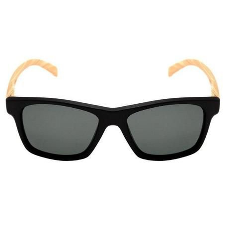 Oculos HB Unafraid Matte Black Wood Polarized Gray