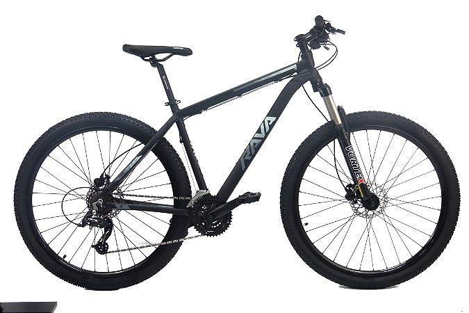 Bicicleta Aro 29 Tsw Rava Pressure 21V Preto/Cinza Hidraulic