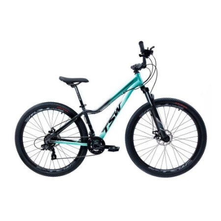 Bicicleta Aro 29 TSW Posh 21V Verde/Cinza
