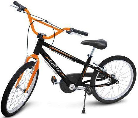 Bicicleta Aro 20 Nathor Apollo Preto e Laranja