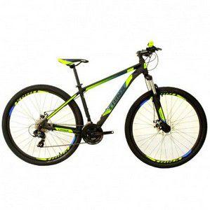 Bicicleta Aro 29 Trinx M100 Pro/Max 24V Preto/Azul/Verde Citrico