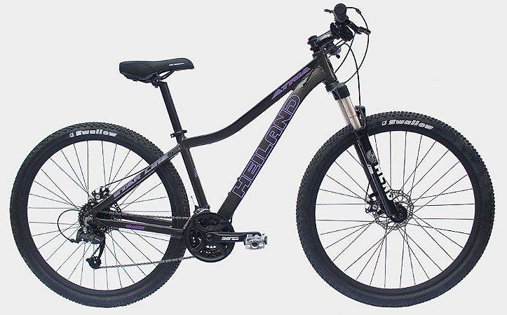 Bicicleta Aro 29 Heiland Atria 21V Cinza/Roxo