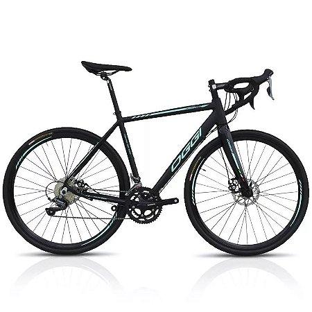 Bicicleta Aro 700 Oggi Speed Velloce Claris 16V Preto/Verde