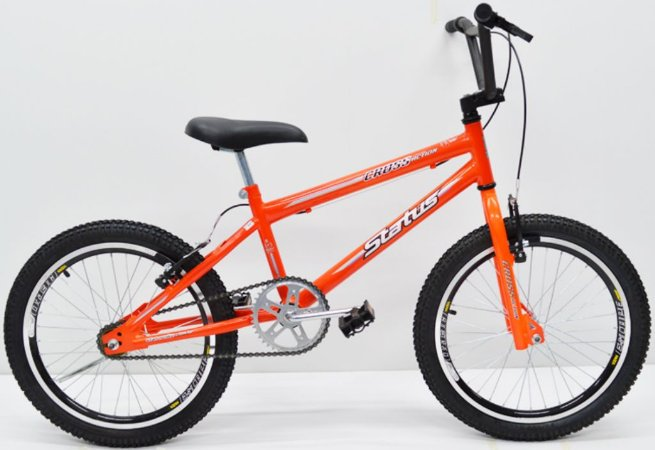Bicicleta Aro 20 Status Cross Laranja