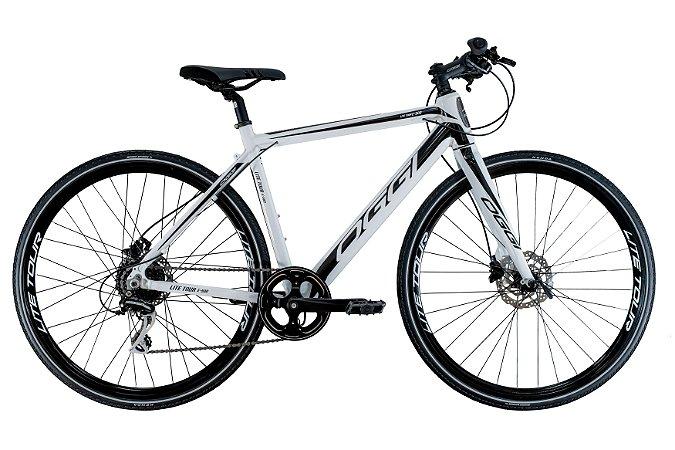 Bicicleta Aro 700 Eletrica Oggi E-Bike Lite Tour E-500 Branco/Preto
