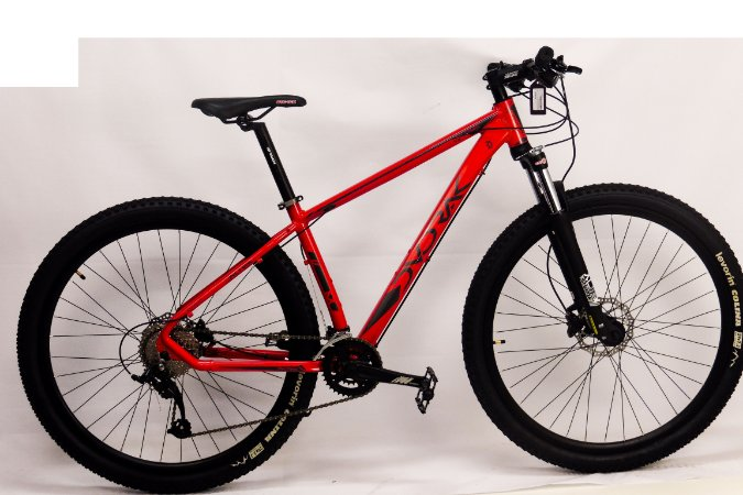 Bicicleta Aro 29 Dvorak 18V Hidraulico Vermelho/Cinza