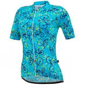 Blusa Marcio May Feminina Funny Bikes Light Azul Claro