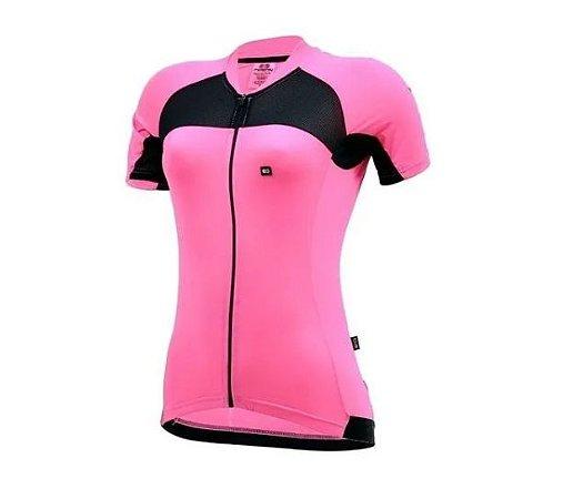 Camisa Marcio May Feminina Elite Rosa/Preto
