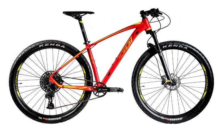 Bicicleta Aro 29 Oggi Big Wheel 7.3 (2020) Vermelho/Amarelo
