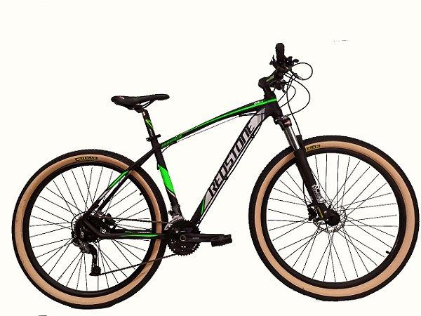 Bicicleta Aro 29 Redstone Aborygen 27V Preto/Verde/Cinza